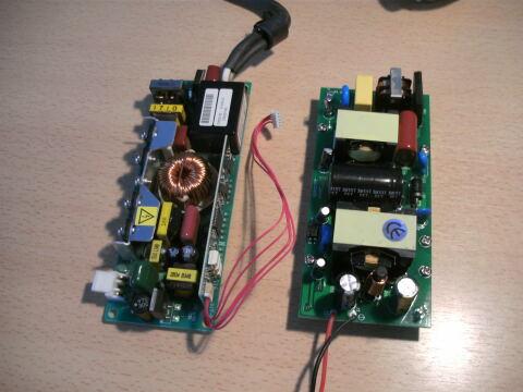 Die Vorschaltgeräte für die LED und die Gasentladungslampe