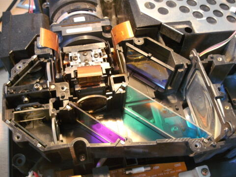 Drei LCDs und drei Strahlengänge