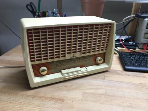 Das fertige Radio aus einer anderen Perspektive