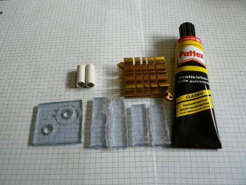Die Materialien aus denen die Kühlung gebaut wurde.